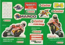 2006 Marco Melandri + Toni Elias Castrol Honda RC211V MotoGP Decal Sticker Sheet