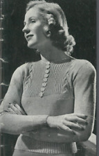 1940s Cable & Ribbed Crop Jumper Patons Knitting Pattern PDF Copy Vintage Pinup
