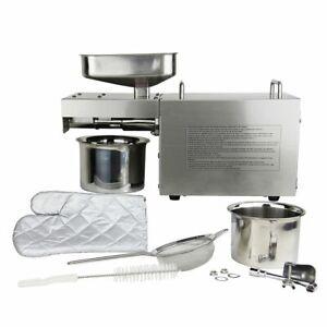 WOO Auto Small Oil Press Machine Peanut Olive Nut Seeds Oil Expeller Extractor
