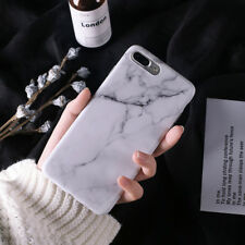Black White Marble Texture Shockproof Soft TPU Case Cover for iPhone XS 8 7 Plus