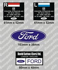 Mk1 Mk2 Escort Mexico RS2000 RS1800 Capri SACHS Front Shock Stickers Ford
