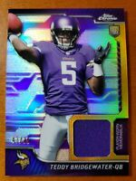 2014 Topps Chrome Rookie Relics PURPLE REFRACTOR Teddy Bridgwater #d /75 NM-MT