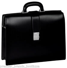 NEW MONTBLANC MONT BLANC LEATHER FRAMED MEISTERSTUCK LV BRIEFCASE WATCH PEN BAG