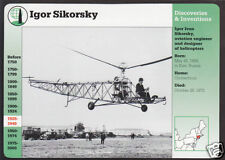 IGOR SIKORSKY Helicopter Inventor PHOTO PICTURE GROLIER STORY OF AMERICA CARD
