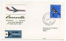 1963 BELGRADO SWISSAIR CARARELL VOLO BELGRAD-ZURICH B/7922