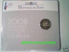 coin card 2 euro 2008 FRANCIA france Presidenza EU Frankreich Франция フランス 法国
