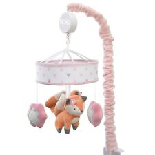 Nojo Baby Musical Crib Mobile Girl Fox Pink Flowers Birth - 5 months