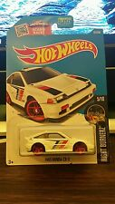 2016 Hot Wheels Night Burnerz 1985 Honda Cr-X White Diecast car