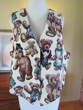 "Vintage ORVIS Teddy Bear Tapestry Vest . Women's XL.  New w/o Tags. 40"" bust"