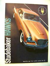 New Listing1957 Studebaker Hawks Catalogue. Orginal