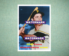 Gene Freese Pittsburgh Pirates 1957 Style Custom Art Card