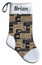 NEW Personalized NHL Anaheim Mighty Ducks Hockey Christmas Stocking Gift