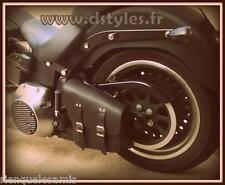 Sacoche latérale cadre rigide Noir Simple pour Harley softail Fatboy breakout