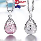 925 Sterling Silver Opal Moonstone Tear Drop Pendant Necklace Jewellery Gift New