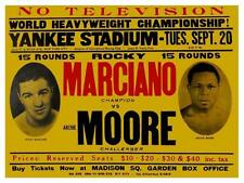 ROCKY MARCIANO vs ARCHIE MOORE 8X10 PHOTO BOXING POSTER POSTER PICTURE