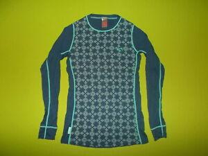 Shirt KARI TRAA (S) 60% WOOL 40% MODAL PERFECT !!! Base Layer SKI RUNNING Blue
