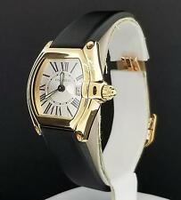 Cartier Roadster Ladies Ref. 2676 18K Yellow Gold B+P  Roman Dial W62018Y5 Nice
