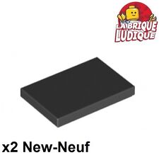 Lego - 2x Tile Plate Smooth 2x3 with Groove Black/Black 26603 New