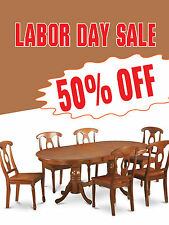 """Labor Day Sale Furniture Business Retail Display Sign, 18""""w x 24""""h, Full Color"""