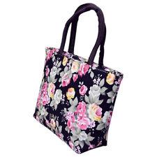 Tote Rose Flower Printed Casual Women's Shoulder Handbag Lunch Bag Women