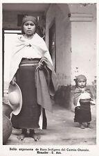 ECUADOR - Bello exponente de Raza Indigena del Canton Otavalo - Photo Postcard
