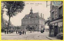 cpa IVRY sur SEINE La MAIRIE CAFÉ de l'Hôtel de Ville Albert PION 37e RI à NANCY