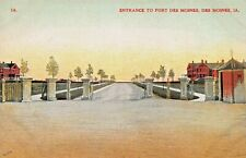 DES MOINES IA~ENTRANCE TO FORT~WW1 TRAINING BASE FOR BLACK SOLDIERS POSTCARD