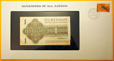 Suriname - 1 Gulden 1984 Uncirculated Banknote housed in see through envelope.