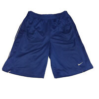VTG 90s Nike Basketball Shorts Men's Large Blue Swoosh Check OG Official
