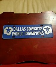 DALLAS COWBOYS 1971 WORLD CHAMPIONS LICENSE PLATE TOPPER