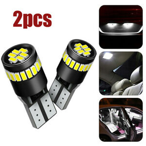 2x White T10 24SMD LED CANBUS Car Interior Lights Dome License Plate Lamp Bulbs