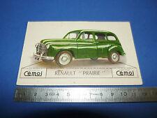 CHROMO 1950-1959 CHOCOLAT CEMOI DECOUPAGE AUTOMOBILE AUTO RENAULT PRAIRIE