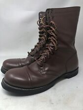 1943 VTG Corcoran JUMP BOOTS US Army Paratrooper WW2 Airborne 11EE Brown Leather
