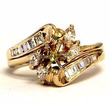 14k yellow gold .52ct diamond semi mount engagement ring wedding jacket 4.6g