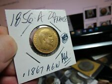 GOLD - 1856 A  FRENCH  BONAPARTE  AGW .1867  VERY NICE    20 FRANCS  165 YRS OLD