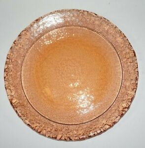 Fire and Light Moonstone Dinner Plate 11 in Copper Amber
