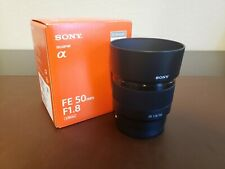 Sony 50mm f/1.8 FE Lens (SEL50F18F) - PERFECT CONDITION with UV Filter