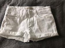 Joes White Shorts Size 27
