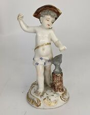 Antique Meissen Figure of a Cherub as Blacksmith Cupid ? AF German Porcelain