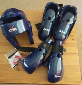 Kuma Sparring Gear Set Children Medium w/ Duffle Bag and new mouth guard