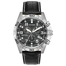 Citizen Eco-Drive Men's Chronograph Titanium Case Black 43mm Watch BL5551-14H