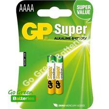 2 x GP AAAA 1.5V Alkaline Batteries MN2500 E96 GP25A LR61 25A Jabra Headset
