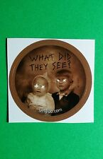 "WHAT DID THEY SEE THE WOMAN IN BLACK MOVIE SMALL 1.5"" GETGLUE GET GLUE STICKER"