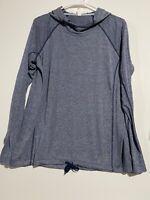 Womens Under Armour Threadborne HeatGear Blue Training Hoodie. Size Medium
