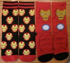 Captain America Civil War Iron Man Boy Athletics Socks 2 PAIRS Marvel Comics 3-5