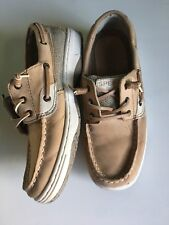 Sperry Brown Tan Leather Top-Sider Shoes Loafers Boys Size 3.5 M