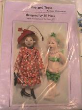 """TILLE & TESSA~Jill Maas 2000 10"""" (26cm) whimsical, fun cloth art doll pattern"""