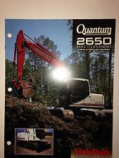 Link Belt 2650 Quantum, Excavator, Sales Literature & specifications.
