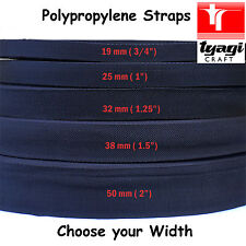NAVY Blue Polypropylene Tape Strap All Width Bag Handle Webbing Rucksack Sailing