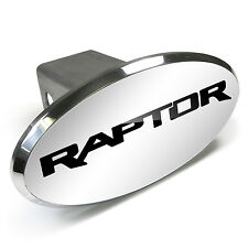 Ford F-150 Raptor Engraved Oval Chrome Aluminum Tow Hitch Cover